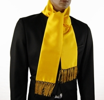 Yellow Satin Men's Fashion Scarf (SC100-J)