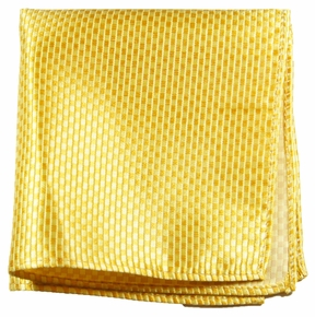 Yellow Silk Mens Pocket Square (H506)