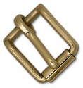 "11554-04  Roller Strap Buckle 1"" Solid Brass"
