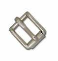 "11555-02  Roller Strap Buckle 5/8"" Solid Brass/Nickel Plate"