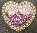 1181859770 Heart Light Amethyst and Amethyst  Rhinestone Concho