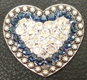 1181861023 Heart Crystal and Montana Rhinestone Concho