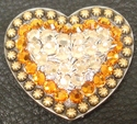 1181862024 Heart Silk and Topaz Rhinestone Concho