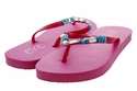 1296 Women Summer Bling Flip Flops Sandals - Pink