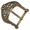 "1637-01 Celtic Buckle 1-1/2"" (3.8 cm) Antique Brass Plate"
