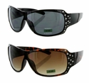 2037R High Quality Fashion Rhinestone Sunglasses 12 Pair