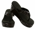 22109-370 Summer wedge sandals - Brown/Black combo
