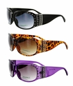 3864R High Quality Fashion Rhinestone Crystal Sunglasses -12 Pairs