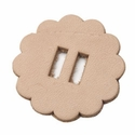 "4131-06 Slotted Leather Conchos 1-1/2"" (3.8 cm) 6/pk"