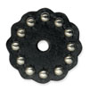 "71497-01 Leather Concho w/Round Spots 1-1/2"" (3.8 cm) Black ""Small"""