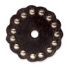 "71497-02 Leather Concho w/Round Spots 1-1/2"" (3.8 cm) Brown ""Small"""