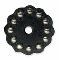 "71498-01 Leather Concho w/Round Spots 1-3/4"" (4.4 cm) Black ""Medium"""