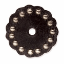 "71498-02 Leather Concho w/Round Spots 1-3/4"" (4.4 cm) Brown ""Medium"""