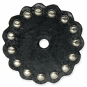 "71499-01 Leather Concho w/Round Spots 2"" (5.1 cm) Black ""Large"""