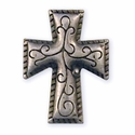 "71506-02 Cross Stamped Steel Concho 3/4"" (1.9 cm) x 1"" (2.5 cm)"