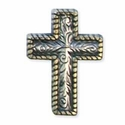 "7793-10 Rope Edge Engraved Cross Concho 1"" (2.5 cm)"