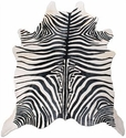 9117-23 Hair-On Cowhide Zebra Print Rug around 5' x 6'
