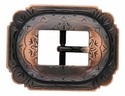 AC 2806 SVCRB Burnished Copper Cart Buckle with Scalloped Edges 3/4""