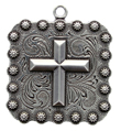 "BS9313-2 SRTP 1 3/8""  Cross Square Berry Pendant"