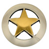 "BS9124-1 SRTP/GP  3/4"" Antique Silver Gold Star Concho"