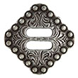 "BS9154-1 SRTP 1"" Swirl Slotted Berry Concho Diamond Concho"