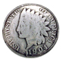 BS9180 SRTP 7/8'' Antique Silver Finish Indian Head Penny Coin Concho