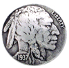 "BS9181-A SRTP 7/8""<BR> Buffalo Nickel Indian Head Coin Concho"
