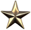 "BS9228 GRTP  3/4"" Antique Gold Star Concho"
