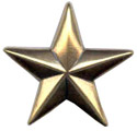 "BS9229 GRTP 1 1/8"" Antique Gold Star Concho"