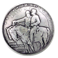 BS9237-A SRTP 1 1/4'' STONE MOUNTAIN JACKSON LEE COIN CONCHO