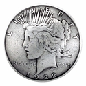 BS9238A SRTP 1 1/2'' Peace Dollar Coin Reproduction