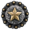 "BS9264-1 SRTPGP 1"" Texas Star Berry Cowboy Concho"