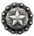 "BS9264-3 SRTP<BR>1 1/2"" Star Berry Concho"