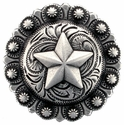 "BS9264-4 SRTP 1 3/4"" Star Berry Concho"
