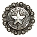 BS9264-5 SRTP 3 inch Star Berry Western Concho
