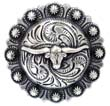 "BS9265-2 SRTP 1 1/4"" Texas Longhorn Steer Berry Concho"