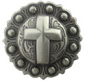 "BS9279-1 SRTP<BR>1 1/4"" Cross Berry in Antique Silver Finish"