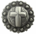 "BS9279-2 SRTP<BR>1 1/2"" Cross Berry in Antique Silver Finish"