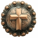 "BS9279-3 COPPER<BR>1-3/4"" CROSS BERRY CONCHO"