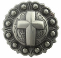 "BS9279-3 SRTP<BR>1 3/4"" Cross Berry in Antique Silver Finish"