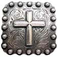 "BS9284-2 SRTP<BR>1-3/8"" Cross Square Concho"