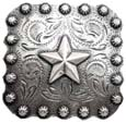 "BS9287-2 SRTP 1-3/8"" Star Berry Square Concho"