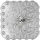"""BS9291-1 SP 1"""" Shiny SilverBerry Square Concho"""