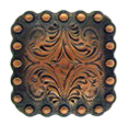 "BS9291-2 Copper 1 3/8"" Berry Square Concho"