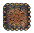 "BS9291-2 Copper<BR>1 3/8"" Berry Square Concho"
