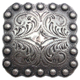 "BS9291-2 SRTP 1 3/8"" Berry Square Concho"