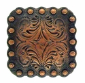 "BS9291 Copper<BR>2 1/4"" Berry Square Concho"