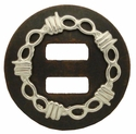 "BS9292-3 DAR/SP 1 1/2"" Soltted Barb Wire Barbwire Concho"