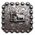 "BS9295 SRTP  2 1/4"" Square Concho Praying Cowboy"