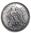 BS9301A SRTP Texas Centennial Half Dollar Eagle Star  Coin Concho